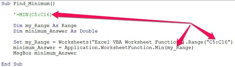 Vba Worksheet Functions 5 Ways To Easily Use Excel In. Macro With Ment Explaining Function Syntax. Worksheet. Application Worksheetfunction Find At Mspartners.co