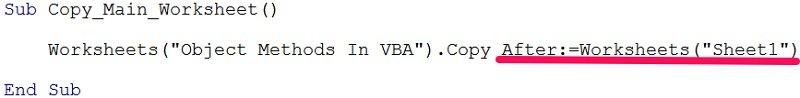 Named argument for VBA object method