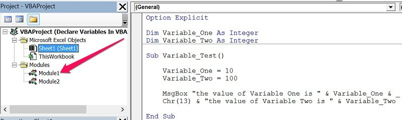 vba modules public variable