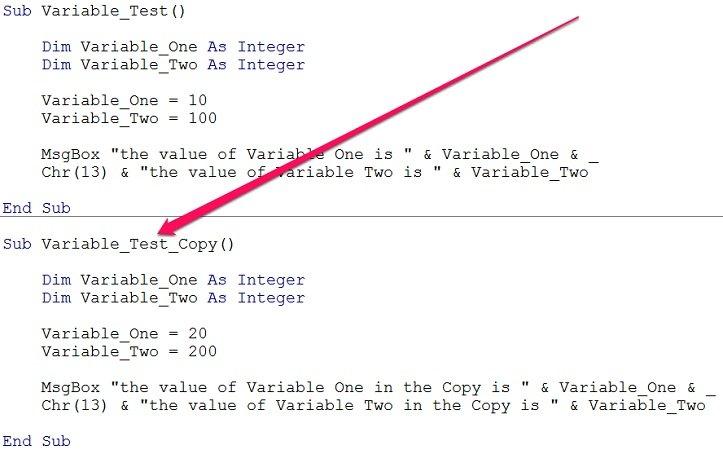 variable name: