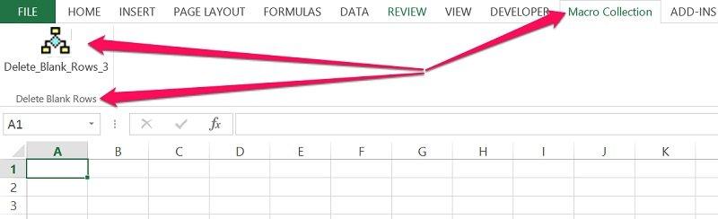 VBA Sub procedure in Excel Ribbon