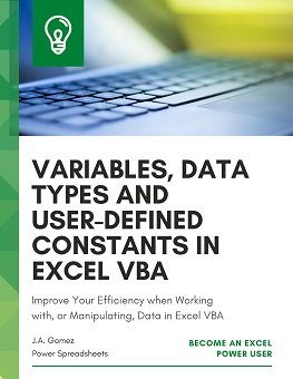 Improve Your Efficiency when Working with, or Manipulating Data, in Excel VBA