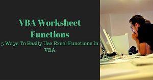 Excel VBA Tutorial about Worksheet Functions