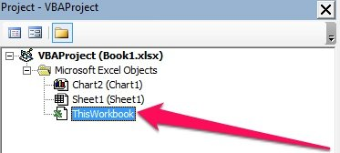 ThisWorkbook Module in VBE