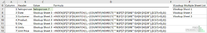 Name of worksheet where lookup value first appears for VLOOKUP multiple sheets