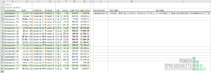 Example: Excel VLookup return multiple values in one cell separated by a comma as an array formula