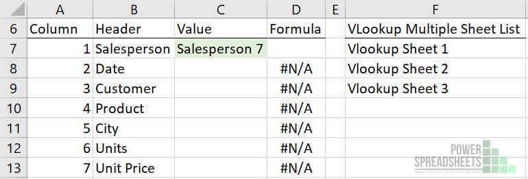 Multiple sheet list for VLOOKUP
