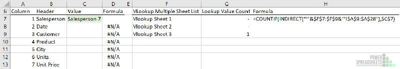 Count lookup value appearances for VLOOKUP multiple sheets