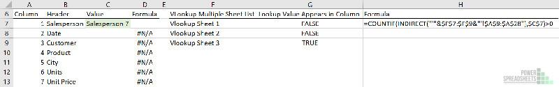 Test lookup value appearance in worksheet for VLOOKUP multiple sheets