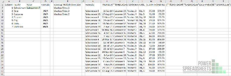 Data array for VLOOKUP multiple sheets