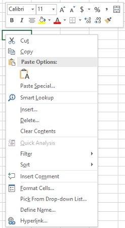 Context menu in BeforeRightClick event